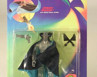 The Shadow Ambush Shadow Quick Draw Action by Kenner Dated 1994
