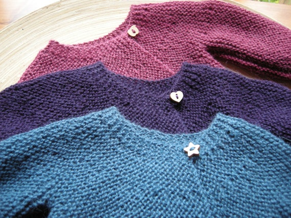 ANKA - Vintage inspired baby sweater - 100% alpaca - made to order - choose size, color and buttons