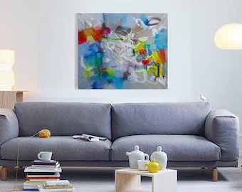 Original abstract acrylic painting, Large wall art canvas, Modern Art Abstract Painting, Acrylic painting on Canvas, Original art work