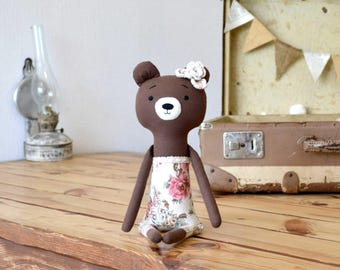baby girl gift toy Baby toy bear woodland toy animal stuffed animal unique toy gift woodland decor bear Woodland stuffed toy plush softie