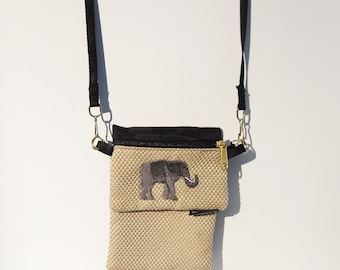 Elephant Large Cell Phone Case with a Coin Purse, 2 Piece Set