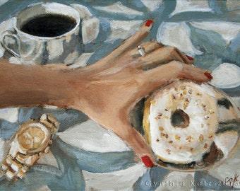 Original Acrylic Painting // Midmorning Snack // Still Life Painting // Wall Art // 18 cm x 24 cm // Cynthia Katz