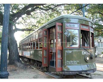 Streetcar Photo - New Orleans Photography - St. Charles Streetcar - theRDBcollection - Renee Dent Blankenship