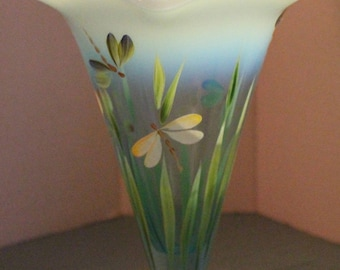 Fenton Museum Collection Dragon Butterfly Vase