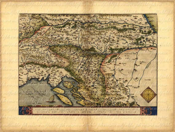 Map of the balkans from 1500s 107 ancient old world map map of the balkans from 1500s 107 ancient old world map vintage digital travel slovenia croatia bosnia serbia istria hungary gumiabroncs Gallery