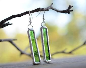 rustic glass earrings bohemian jewelry tin artisan earrings mom birthday gift women everyday earrings boho jewelry dangle earrings