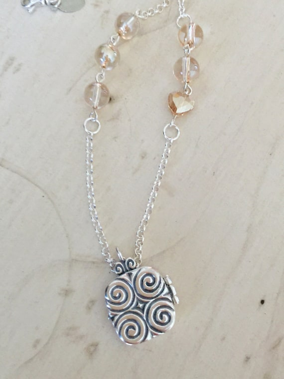 Hold That Thought Memory Locket Necklace, Sterling Silver