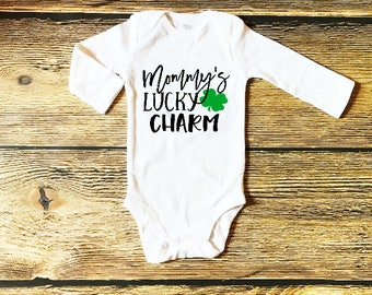 Baby St Patricks Outfit St Patrick's Day Outfits for Baby Boy Mommy's Lucky Charm Baby First St Patrick's Day Outfit Boys Saint Patricks Top