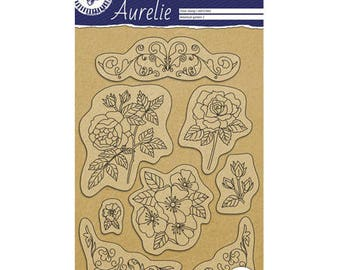 Garden botanical 2 stamp Clear_PGAUCS1002
