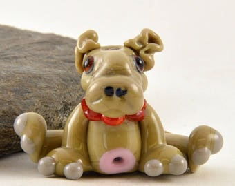 HIPPO, Hugo the Hippopotamus  Glass Sculpture Collectible, Focal Bead, Izzybeads SRA