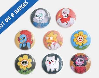 Badges Undertale - Lot de 8