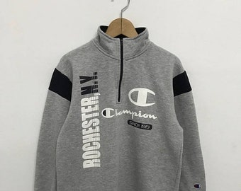 20% OFF Vintage Champion Pullover Half Zipper/Champion Sweater/Champion Clothing/Champion Spellout/Champion Big Logo 2Dx7Oc