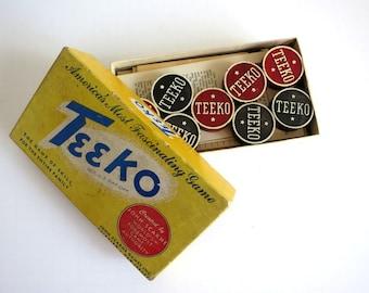 Vintage Board Game TEEKO By John Scarne 1950s