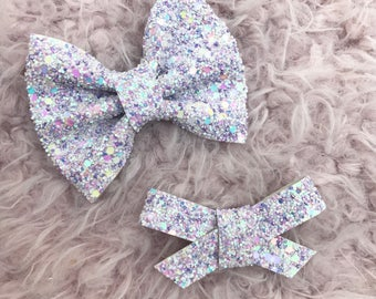 Lavender Dream glitter brooke or Madison bows