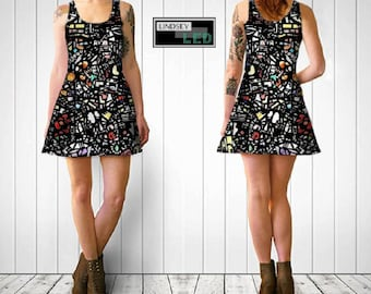 Assorted Shapes Flare Dress