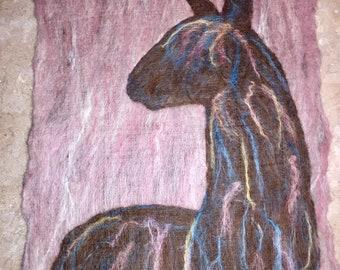 Suri Alpaca on Pastel Background