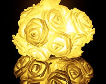 Light up rose flowers to add to your designs, costumes or hats.  Pink, Purple, Bright White or Warm White