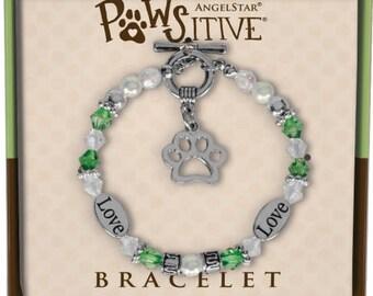 Pawsitive Charm Bracelet (Grassy Green)