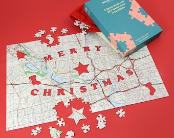 Merry Christmas Personalized Puzzle