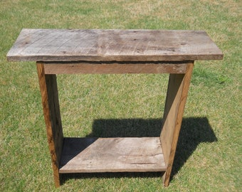 Rustic wood Table, reclaimed wood entry table, reclaimed wood sofa table, rustic table, reclaimed wood