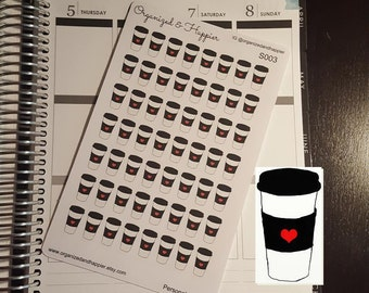 Coffe Paper Travel Mug Cup Decorative Cute Planner Stickers Matte Glossy #S003