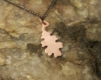 Brushed Copper Oak Leaf