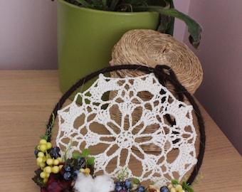 Wreath door wreath, welcome wreath, vintage doily
