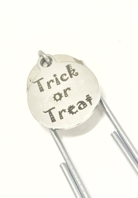 Trick Or Treat Bookmark, Planner Bookmark, Trick Or Treat Gifts, Fun Trick Or Treat, Planner Accessories, Halloween All Year, Halloween Gift