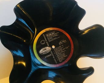 Small Vintage Vinyl Record Bowl