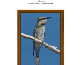 BEE EATER - Cross Stitch Chart