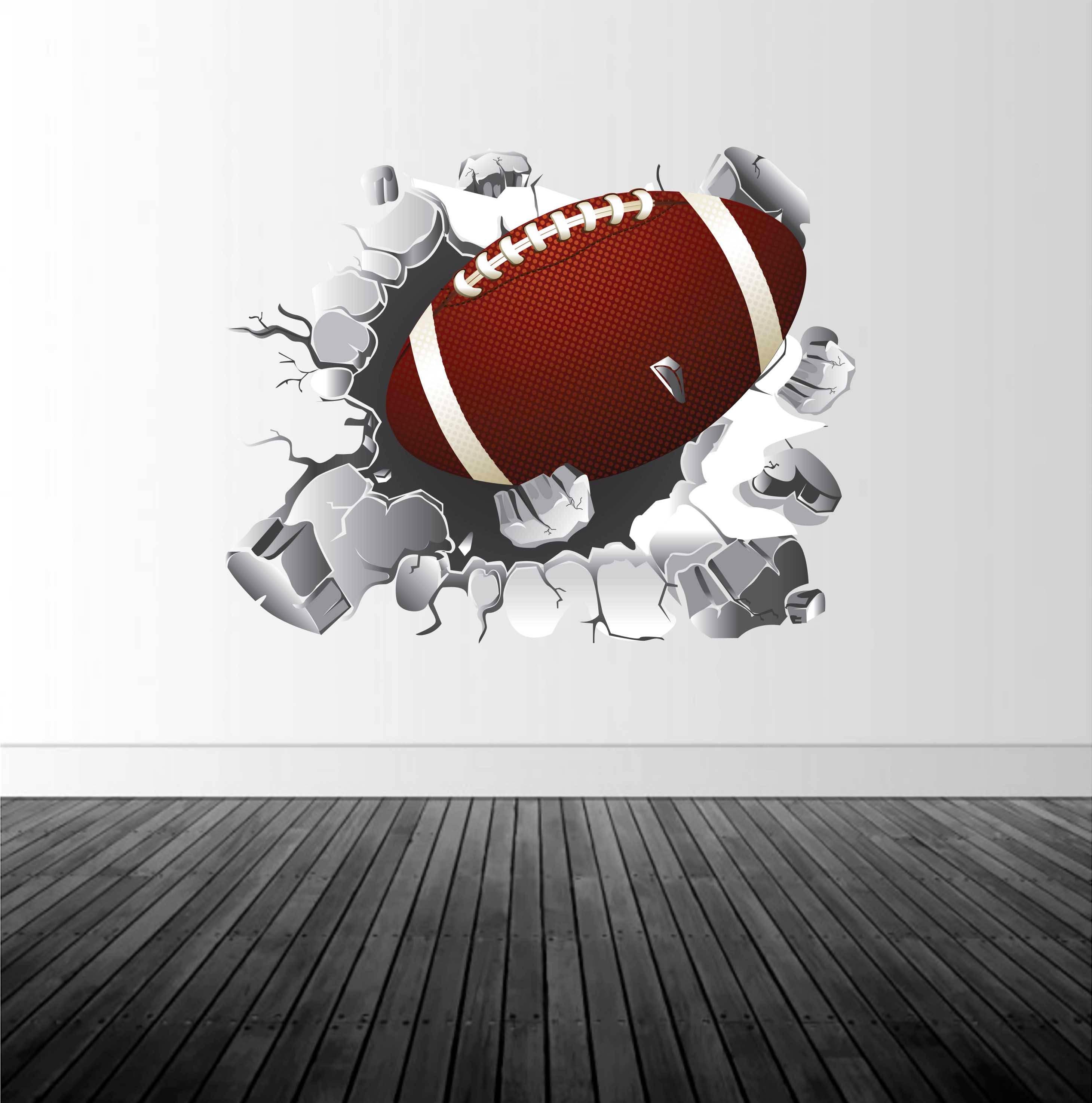 Football Wall Decal, Football Decor, Vinyl Wall Graphics, Removable ...