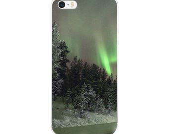 Cold Northern Light's iPhone Case Night Sky Beautiful Sky Northern Lights iPhone Case
