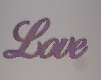 Love Sign Hanging Wall Decor Distressed Wood