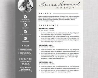 "Resume | CV Template and Cover Letter | Creative Resume Designs | Mac or PC | Microsoft Word (""Palisades"")"