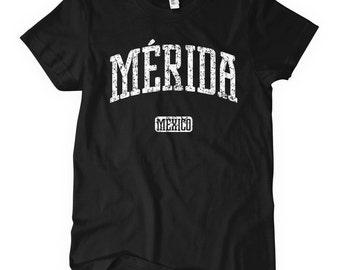 Women's Merida Mexico T-shirt - S M L XL 2x - Ladies' Merida Tee, Gift, Merida Shirt, Yucateco Shirt, Yucatan, Mayan, UADY, MiD, Sureste MX