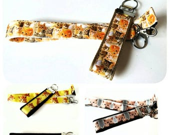 Kitty cat badge holder, lanyard or keychain, Gifts For Cat Lovers, Gift for her, Cat lady gift, Cat gifts
