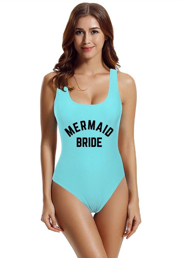 Mermaid Bride Swimsuit. Bride Swim. Bride Suit. Mermaid