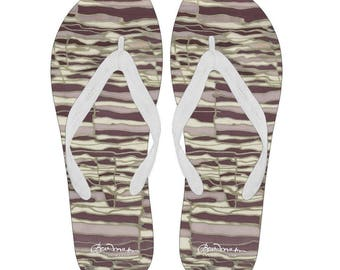 Techno Canvas and Vinyl Flip Flops- Men's and Women's: S, M, L, XL
