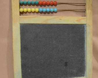 Vintage Raco Chalkboard with Counting Beads