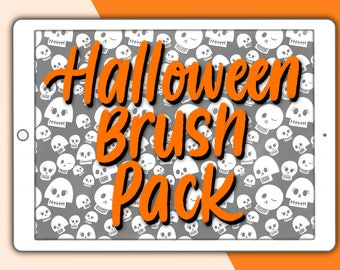 Halloween Procreate brush pack