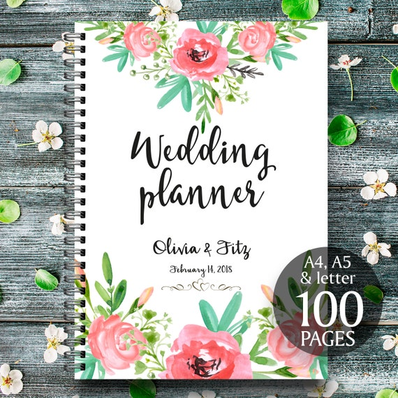 Bohemian wedding planner, DIY wedding binder, Wedding checklist, Printable wedding planner, Floral wedding planner, Wedding to do list