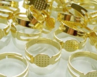 5 supports gold plate ring 8mm