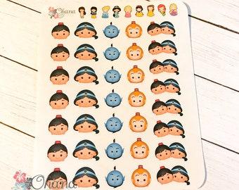 Tsum Tsum Aladdin Planner Stickers ~ Disney Inspired   Life Planner   EC   Erin Condren   Limelife   Inkwell   Plum   Kikki   Decorative