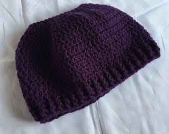 Women's Messy Bun Hat in Purple