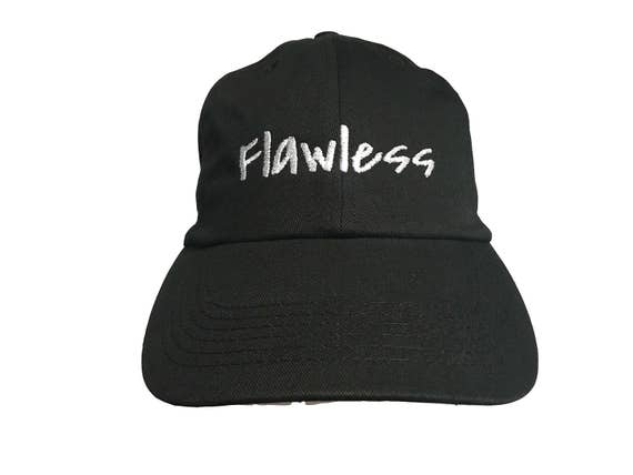 Flawless (Polo Style Ball Black with White Stitching)