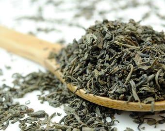 Chun Mee Organic China Green Tea - Premium Loose Leaf Green Tea (10g - 100g)