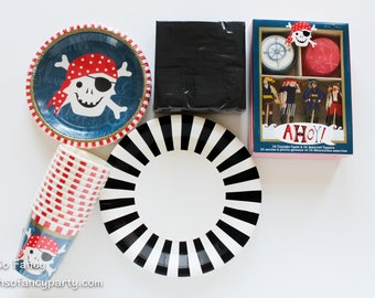 Pirate Party Bundle / Pirate Tableware / Pirate Party / Pirate Theme / Ahoy Matey