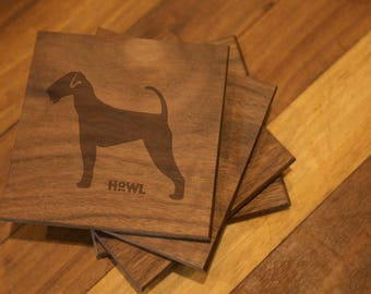 Airedale Terrier Coaster Set