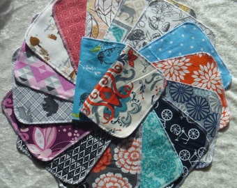 20 Adult Style Mixed Print, Reusable Cloth Napkins, Eco-Friendly