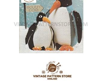 1980s penguin toy sewing pattern - Vintage PDF Sewing Pattern 1659